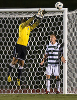 The number 5 ranked Charlotte 49ers play the University of South Carolina Gamecocks at Transamerica field in Charlotte.  Charlotte won 3-2 in the second overtime.  Klay Davis (1), Donnie Smith (9)