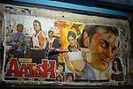 Movie poster in the Paharganj district of New Delhi, India.