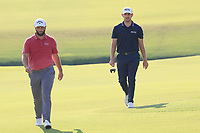 5th September 2021: Atlanta, Georgia, USA;  Jon Rahm (ESP)  and Patrick Cantlay (USA) approach the 18th green during the 4th and final round of the TOUR Championship  at the East Lake Club in Atlanta, Georgia.
