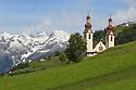 Church in the village of Fliess. Nordtirol, Austrian Alps. June.