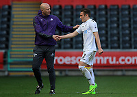 SWANSEA, WALES - MARCH 25: Swansea City coach Cameron Toshack shakes hands with Connor Roberts of Swansea City after the final whistle of the Premier League International Cup Semi Final match between Swansea City and Porto at The Liberty Stadium on March 25, 2017 in Swansea, Wales. (Photo by Athena Pictures)Athena Pictures)
