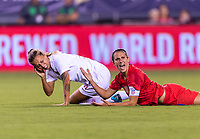 PHILADELPHIA, PA - AUGUST 29: Carli Lloyd #10 of the United States yells at the referee during a game between Portugal and the USWNT at Lincoln Financial Field on August 29, 2019 in Philadelphia, PA.