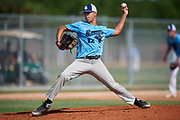 Sean Saviano during the WWBA World Championship at the Roger Dean Complex on October 19, 2018 in Jupiter, Florida.  Sean Saviano is a left handed pitcher from Monroe Township, New Jersey who attends Monroe Township High School.  (Mike Janes/Four Seam Images)
