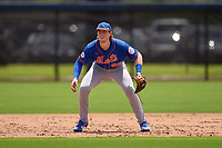 New York Mets Brett Baty (96) during a Minor League Spring Training game against the Houston Astros on April 27, 2021 at FITTEAM Ballpark of the Palm Beaches in Palm Beach, Fla.  (Mike Janes/Four Seam Images)