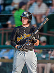 12 July 2015: West Virginia Black Bears infielder Mitchell Tolman, a 5th round draft pick for the Pittsburgh Pirates organization, stands on deck during a game against the Vermont Lake Monsters at Centennial Field in Burlington, Vermont. The Lake Monsters rallied to defeat the Black Bears 5-4 in NY Penn League action. Mandatory Credit: Ed Wolfstein Photo *** RAW Image File Available ****