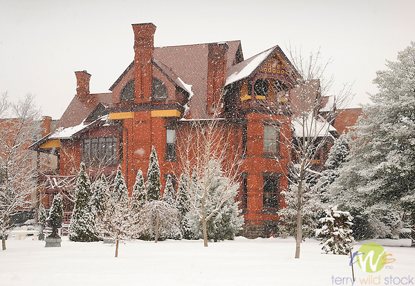 Marsha and Bob Elion West 4th Street home in winter snow. Williamsport, PA