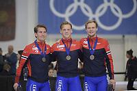 SPEEDSKATING: 13-02-2020, Utah Olympic Oval, ISU World Single Distances Speed Skating Championship, Team Sprint Men, Team Norway, ©Martin de Jong
