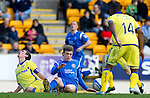 St Johnstone v Kilmarnock....02.04.11 .Murray Davidson tackles Craig Bryson.Picture by Graeme Hart..Copyright Perthshire Picture Agency.Tel: 01738 623350  Mobile: 07990 594431