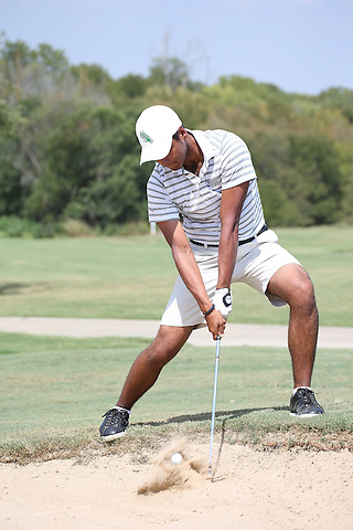 SOUTHLAKE, TX - SEPTEMBER 10: Juan Munoz of the North Texas Mean Green Men's Golf at the Trophy Club Country Club in Southlake on September 10, 2013 in Southlake, Texas. Photo by Rick Yeatts