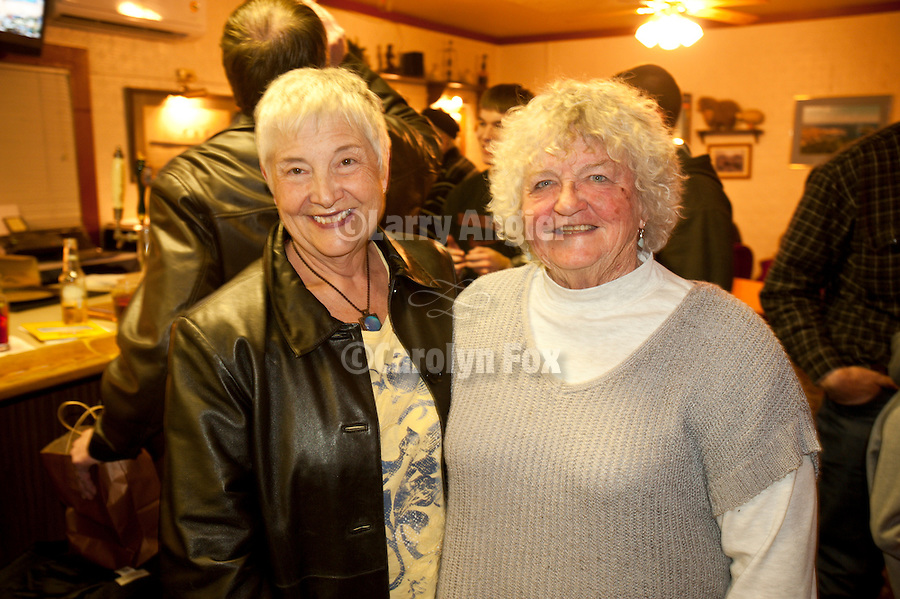 """Winnemucca Mayor Di Ann Putnam and Linda Duferrena at the Martin Hotel, Shooting the West XXIII photo symposium, Winnemucca, Nev. """"The Nevada Photography Experience"""""""