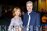 Marcus Mac Domhnaill stands with Adi Roche at the Carols for Chernobyl an evening of seasonal Music and Song in St Brendans Church on Sunday night.
