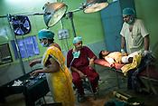 A tired suregon, Dr. Subramanium after a long operation.