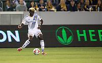 Carson, California - March 8, 2014: Real Salt Lake defeated the LA Galaxy 1-0 to begin their Major League Soccer (MLS) season match at StubHub Center stadium.
