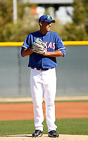 Omar Poveda  - Texas Rangers - 2009 spring training.Photo by:  Bill Mitchell/Four Seam Images