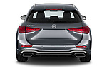 Straight rear view of 2022 Mercedes Benz C-Class AMG-Line 5 Door Wagon Rear View  stock images