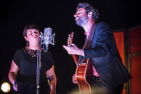 Louis-Jean Cormier (R)  attend <br /> the  Festival en Chanson of Petite-Vallee in Gaspesia on June 30, 2014<br /> <br /> Photo : Agence Quebec Presse  - Frederic Seguin