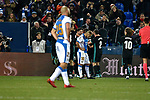 Leganes Nabil El Zhar dejected vs Real Madrid celebration goal during Copa del Rey  match. A quarter of final go. 20180118.