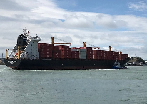 The new direct cargo service to the US east coast from Port Of Cork Independent Vision first arrived at the Port last June