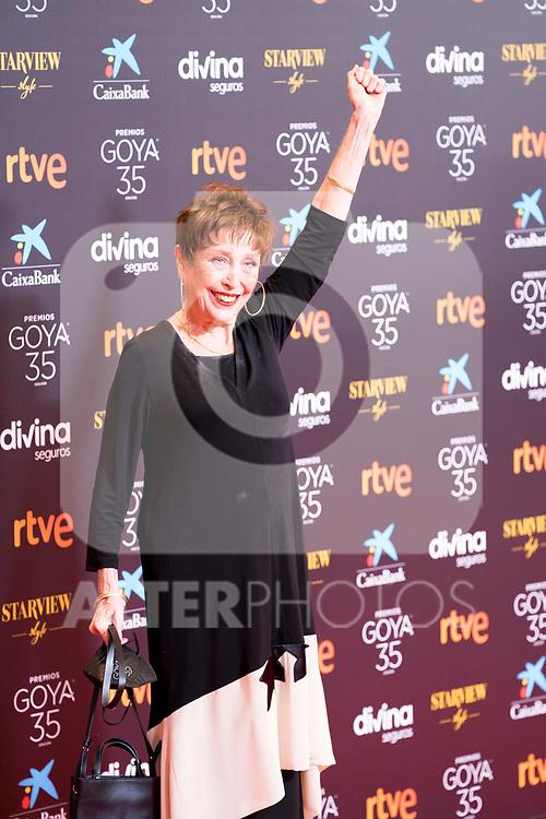 Veronica Forque attends the red carpet previous to Goya Awards 2021 Gala in Malaga . March 06, 2021. (Alterphotos/Francis González)