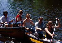 Boote in Uhlenhorst, Hamburg, Deutschland