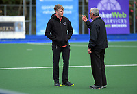 Match officials at the 2020 Lower North Island Girls Hockey Premiership  tournament at Fitzherbert Park Twin Turfs in Palmerston North, New Zealand on Tuesday, 1 September 2020. Photo: Dave Lintott / lintottphoto.co.nz