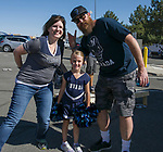 Chris, Rachael & Choloe Feist during the Nevada vs Weber State football game in Reno, Nevada on Saturday, Sept. 14, 2019.