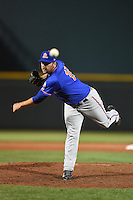 St. Lucie Mets pitcher Kyle Regnault (16) delivers a pitch during a game against the Bradenton Marauders on April 11, 2015 at McKechnie Field in Bradenton, Florida.  St. Lucie defeated Bradenton 3-2.  (Mike Janes/Four Seam Images)