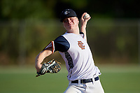 Davidjohn Herz during the WWBA World Championship at the Roger Dean Complex on October 21, 2018 in Jupiter, Florida.  Davidjohn Herz is a left handed pitcher from Fayetteville, North Carolina who attends Terry Sanford High School and is committed to North Carolina.  (Mike Janes/Four Seam Images)
