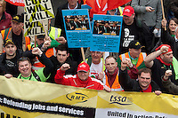 The TUC 'March for the Alternative' attended by over 500,000 people in London. 26-3-11 The protest was against austerity cuts being brought in by the government.