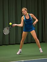 Rotterdam, The Netherlands, 07.03.2014. NOJK ,National Indoor Juniors Championships of 2014, 12and 16 years, Nina Kruijer (NED)<br /> Photo:Tennisimages/Henk Koster