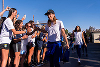 PASADENA, CA - AUGUST 3: Tobin Heath #17 enters the stadium during a game between Ireland and USWNT at Rose Bowl on August 3, 2019 in Pasadena, California.
