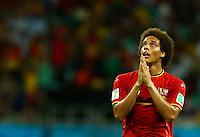 Axel Witsel of Belgium gesturs to pray
