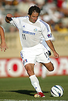 Wizards Midfielder Preki in action against Earthquakes at San Jose Spartan Stadium in San Jose, California on June 28th, 2003.  Earthquakes and Wizards are tied 0-0 in overtime.