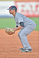 Pulaski Yankees first baseman Matthew Duran (50) during a game against the Greeneville Astros on July 11, 2015 in Greeneville, Tennessee. The Yankees defeated the Astros 9-3. (Tony Farlow/Four Seam Images)