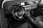 High angle dashboard view of a 2013 Lexus RX 450H