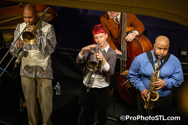 Lamar Harris and Dawn Weber in concert at Jazz St. Louis in St. Louis, MO on Jan 25, 2013.
