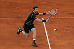 Andy Murray from UK during his Madrid Open tennis tournament semifinal match against Nishikori Kei from Japan in Madrid, Spain. May 09, 2015. (ALTERPHOTOS/Victor Blanco)