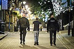 """© Joel Goodman - 07973 332324 . 10/08/2011 . Manchester , UK . Jeremy Joseph (c) walks along Canal Street in Manchester's """" Gay Village """" , flanked by security guards , as disorder spreads to Manchester during a 4th night of rioting and looting , following a protest against the police shooting of Mark Duggan in Tottenham . Photo credit : Joel Goodman"""