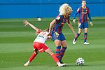 Liga IBERDROLA 2020-2021. Jornada: 10<br /> FC Barcelona vs Santa Teresa: 9-0.<br /> Nerea Perez vs Kheira Hamraoui.