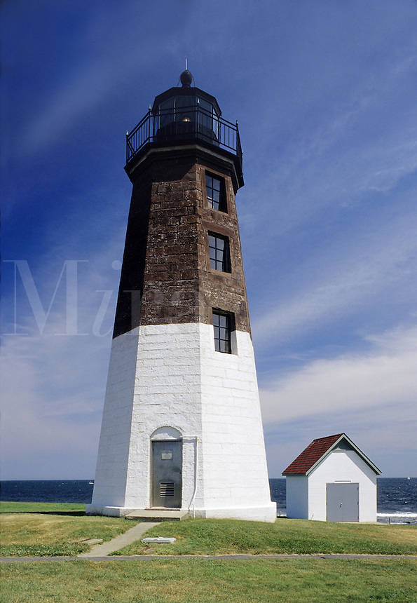 Rhode Island&#xA;The Judith Point Lighthouse is on Narraganset Bay south of Narraganset<br />