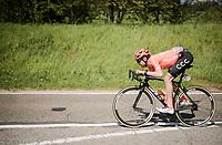 Joey Rosskopf's (USA/CCC) version of 'aero'<br /> <br /> 83rd La Flèche Wallonne 2019 (1.UWT)<br /> One day race from Ans to Mur de Huy (BEL/195km)<br /> <br /> ©kramon