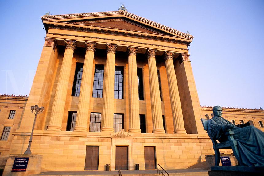 Philadelphia Pennsylvania PA  famous Rocky scene Historical Museum of Art pillars & steps.