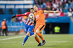 Florian Lejeune (r) of SD Eibar fights for the ball with Yannick Ferreira Carrasco of Atletico de Madrid during their Copa del Rey 2016-17 Quarter-final match between Atletico de Madrid and SD Eibar at the Vicente Calderón Stadium on 19 January 2017 in Madrid, Spain. Photo by Diego Gonzalez Souto / Power Sport Images