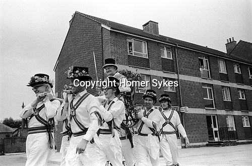 The Election of the Mayor of Ock Street,Abingdon, Oxfordshire. England 1971.<br /> <br /> Mr Charlie Brett being chaired down Ock Street,