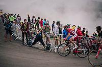 up the brutal Col du Portet (HC/2250m/16km at 8.7%/Souvenir Henri Desgrange) in this historically short stage (only 65km)<br /> <br /> Stage 17: Bagnères-de-Luchon > Saint-Lary-Soulan (65km)<br /> <br /> 105th Tour de France 2018<br /> ©kramon