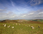 Bedd Arthur or Arthurs Grave Preseli Hills Pembrokeshire Wales Stone Circle  Preseli Mountains Nr Crymych Pembrokshire Wales  Celtic Britain published by Orion