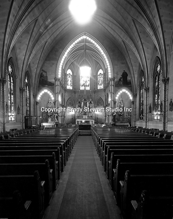 Pittsburgh PA: View of  Duquesne University Chapel  and Sanctuary.  Duquesne's Chapel has offered respite from a student or teacher's hectic schedule. Daily Mass has been offered to all students and faculty for over 125 years.