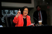 United States Senator Mazie Hirono (Democrat of Hawaii), speaks during a US Senate Judiciary Committee business meeting to consider authorization for subpoenas relating to the Crossfire Hurricane investigation, and other matters on Capitol Hill in Washington, Thursday, June 11, 2020.<br /> Credit: Carolyn Kaster / Pool via CNP/AdMedia