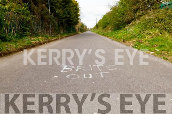 Graffiti on the Slim Mile/ Skinny Mile in Tralee on Thursday