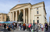 Justizgebäude am Grand Siege Square in in Valletta, Malta, Europa, Unesco-Weltkulturerbe